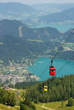 Aerial view of the lake St. Wolfgang, Austria Stock Photo