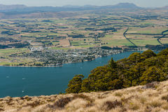 Aerial view of lake Te Anau Royalty Free Stock Photos