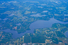 Aerial view of lakes Stock Photography
