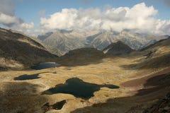 Aerial view of lakes in Posets-Maladeta Stock Photos