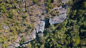 Aerial view of Lan Hin Poom at Phu Hin Rong Kla National Park. Aerial view from drone Lan Hin Poom at Phu Hin Rong Kla National Park, The famous national park in Stock Photography