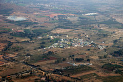 Aerial View of Land and Township Stock Photos
