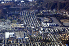 Aerial View of landmark Cow Palace. Aerial View landmark Cow Palace, Completed in 1941, is an indoor arena located in Daly City, California, situated on the city Royalty Free Stock Images