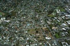 Aerial view of Landmark University of Hawaii, Mid Pacific insti Stock Images
