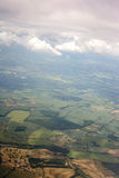Aerial view of landscape from airplane Royalty Free Stock Photo