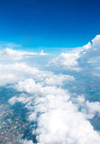 Aerial view landscape of Bangkok city in Thailand with cloud Stock Photography