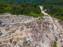 Aerial view landscape of canyon at grand canyon Kapong, Phang nga. Thailand royalty free stock image