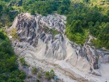 Aerial view landscape of canyon at grand canyon Kapong, Phang nga. Thailand royalty free stock photo