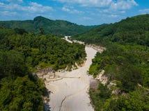 Aerial view landscape of canyon at grand canyon Kapong, Phang nga. Thailand stock photography
