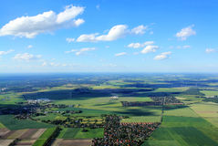 Aerial view of landscape germany Stock Image
