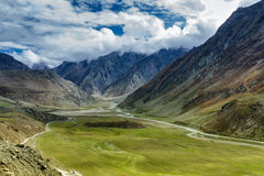 Aerial view, landscape of Ladakh, Jammu and Kashmir, India Stock Photos