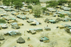 Aerial view of landscape in South Sudan Royalty Free Stock Photography