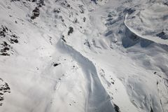 Aerial view of landscape in the Swiss ski region of Zermatt with Fluhalp stock images