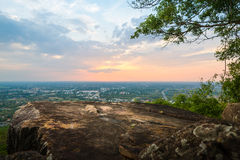 Aerial view - landscape from the top of mountain Royalty Free Stock Photography