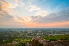 Aerial view - landscape from the top of mountain Royalty Free Stock Photo