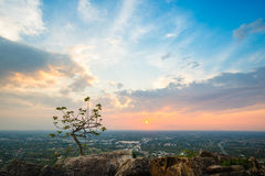 Aerial view - landscape from the top of mountain Stock Photography