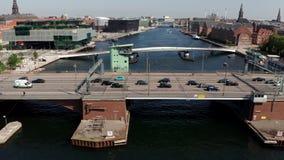 Aerial view of Langebro and Copenhagen waterfront, Denmark 1