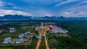 Aerial view Laos immigration, Thailand Laos border inspection, Thakhek, Khammouane, Laos stock photos