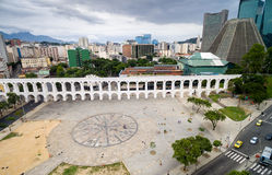 Aerial view of the Lapa Arches in Rio de Janeiro, Brazil Royalty Free Stock Photo
