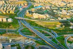 Aerial view overpass. Tehran, Iran stock photo