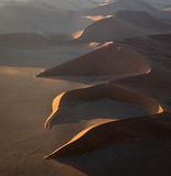 Aerial view of Large Sand Dune in Namibia Stock Images