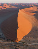 Aerial view of Large Sand Dune in Namibia Royalty Free Stock Photography