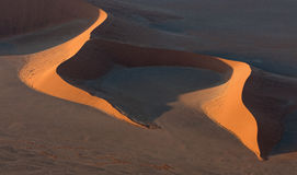 Aerial view of Large Sand Dune in Namibia Stock Photography