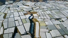 Aerial view. The largest concentration of greenhouses in the world. Almeria, Spain.