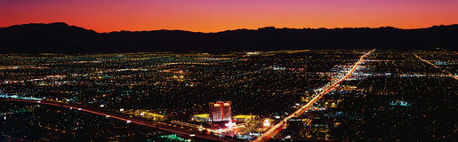 Aerial view of Las Vegas Royalty Free Stock Image