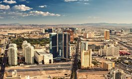 Aerial view of Las Vegas Royalty Free Stock Photos