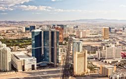 Aerial view of Las Vegas Royalty Free Stock Images