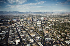Aerial view of Las Vegas stock image