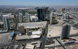 Aerial View of Las Vegas Blvd & Paradise Rd Royalty Free Stock Image