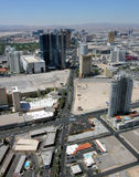 Aerial View of Las Vegas Boulevard North Royalty Free Stock Photography