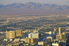 Aerial view of Las Vegas with mountains, NV Stock Photo