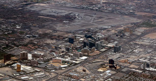 Aerial view of Las Vegas Strip. Aerial view of the Las Vegas Strip and airport Royalty Free Stock Images