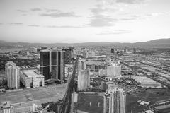 Aerial view of Las Vegas strip in Nevada Royalty Free Stock Photos