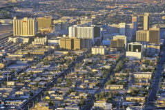 Aerial view of Las Vegas at sunset, NV royalty free stock images