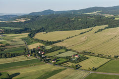 Aerial view of the  lawnica village near Klodzko city Royalty Free Stock Photo