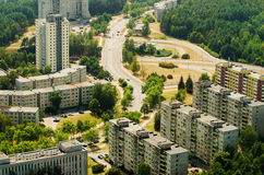 Aerial view of Lazdynai, Vilnius, Lithuania Royalty Free Stock Image
