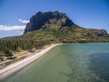 Aerial View: Le Morne Brabant Stock Image