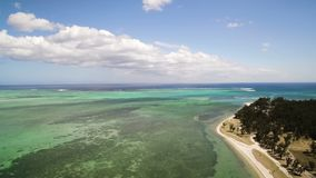 Aerial View: Le Morne Brabant. Mauritius stock video
