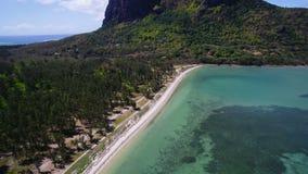 Aerial View: Le Morne Brabant, Mauritius. Aerial View: Le Morne Brabant stock footage