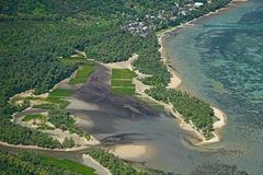 Aerial view from Le Morne Brabant Stock Photo