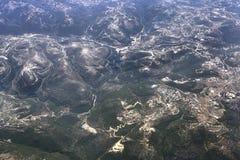Aerial view of Lebanon Mountains Royalty Free Stock Photo