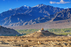 Aerial view of Leh City, Landscape of Ladakh, Jammu and Kashmir, India Royalty Free Stock Images