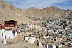 Aerial view of Leh (Ladakh) Royalty Free Stock Images