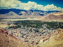 Aerial view of Leh. Ladakh, India Stock Photo