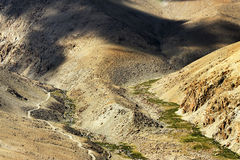 Aerial view of Leh ladakh landscape, Jammu and Kashmir, India Stock Photo