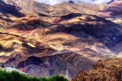 Aerial view of Leh ladakh landscape, Jammu and Kashmir, India Stock Photos
